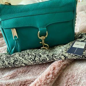 Rebecca Minkoff Mini Mac bag in Sea Green